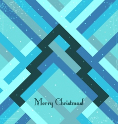 Retro styled christmas greeting card vector image vector image