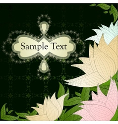 Vintage floral card with beautiful flowers vector image vector image