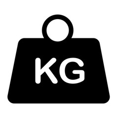 weight icon on white background flat style vector image