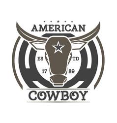 American cowboy vintage isolated label vector
