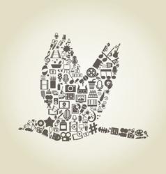 Bird art vector