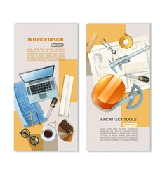 Construction Architect Vertical Banners vector image vector image
