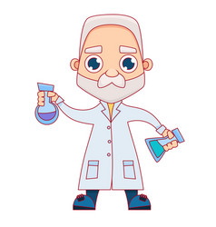 old male scientist vector image vector image