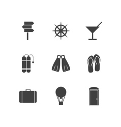 Black icons for leisure vector image