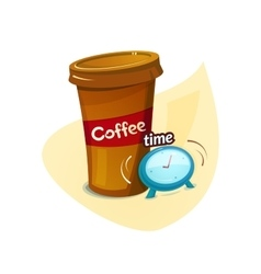Coffee time concept design vector image