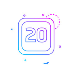 20 date calender icon design vector image