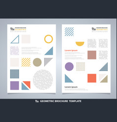 abstract colorful geometric brochure modern vector image