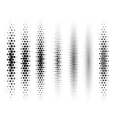 abstract halftone gradient set isolated on white vector image