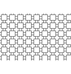 Abstract pattern of squares with a black line vector