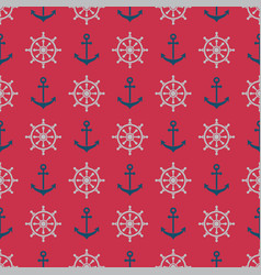 anchorrudder pattern vector image