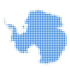 Antarctica map halftone icon vector