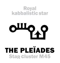 Astrology pleiades royal behenian vector