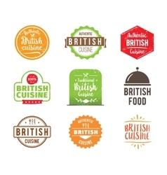 British cuisine label vector image