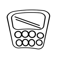 Calculator class supplies school outline vector
