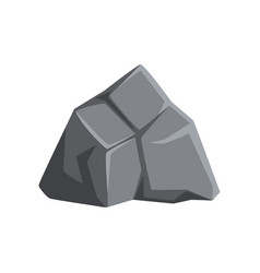 Cartoon icon of strong gray stone solid vector