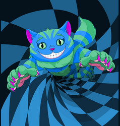 Cheshire cat jumping vector