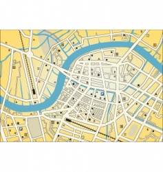 city street map vector image