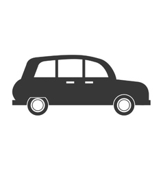 Classic car sideview icon vector