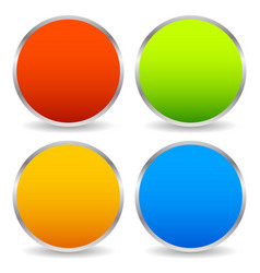 colorful circle shape set with blank space vector image