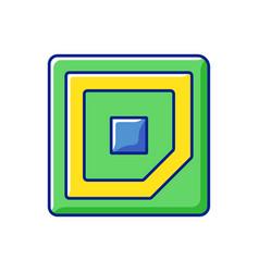 Cpu corner mark rgb color icon vector