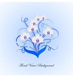 decorative bouquet white orchid vector image
