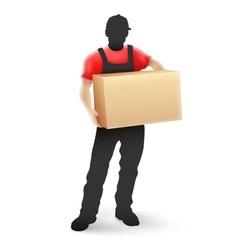 Delivery service man postman vector image
