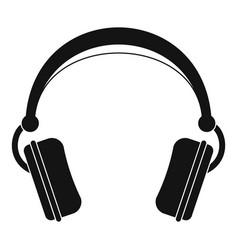 dj headphones icon simple style vector image