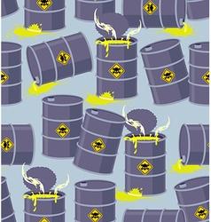 Dump toxic waste barrels seamless pattern dump vector