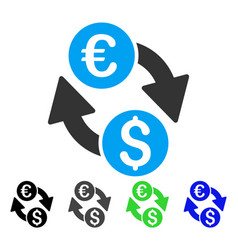 euro money exchange flat icon vector image