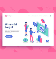 Financial target concept office people and vector