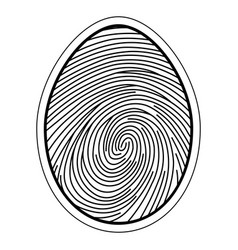 Fingerprint image of a finger vector