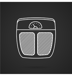 Floor scales white line icon vector image