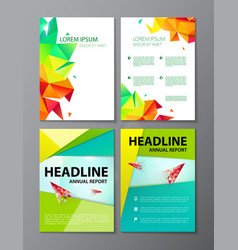Flyer purple brochure abstract design 2 vector