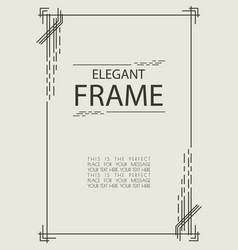 frame template elegant style vector image