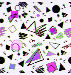 Geometric pattern with grunge elements vector