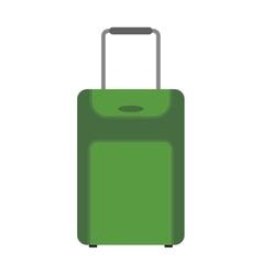 Green suitcase travel equipment vector