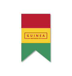 guinea independence day patriotic design happy vector image
