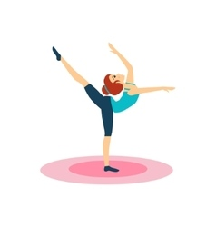 Gymnastics daily routine activities of women vector