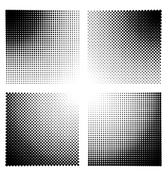 Halftone effect templates for backgrounds vector image