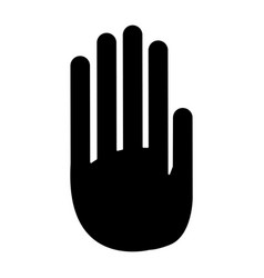 Hand palm human symbol pictogram vector