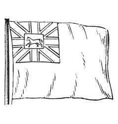 Hanover flag vintage vector