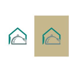 home food resto logo vector image