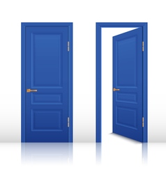 House Open And Closed Door Set vector