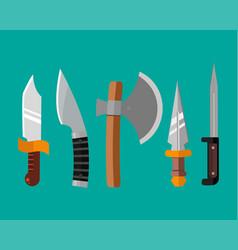knife weapon dangerous metallic vector image