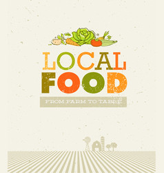 local food market from farm to table creative vector image vector image