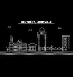 louisville silhouette skyline usa - louisville vector image