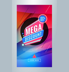 Mega discount editable templates for social media vector