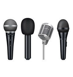 microphones 3d music studio misc mic equipment vector image