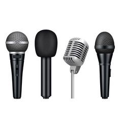 Microphones 3d music studio misc mic equipment vector