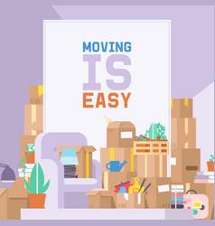 Moving delivery service delivering parcel vector